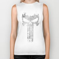 punisher Biker Tanks featuring The Punisher  by Ricardo A.