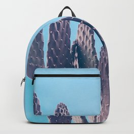 Cactus Photography Print {2 of 3} | Cool Blue Succulent Plant Nature Western Desert Design Decor Backpack