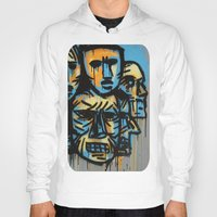 talking heads Hoodies featuring Heads by andres lozano