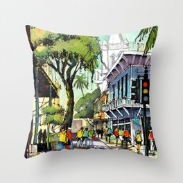 Duval Street, Key West Throw Pillow