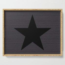Black Star Serving Tray