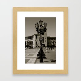 LAMPS & BENCHES  Framed Art Print