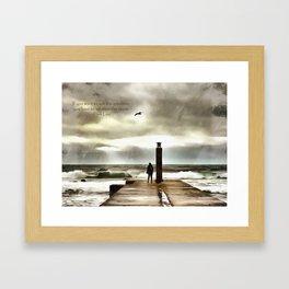 The girl in the storm, Cascais (Portugal) Framed Art Print