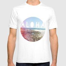 Aloha MEDIUM White Mens Fitted Tee