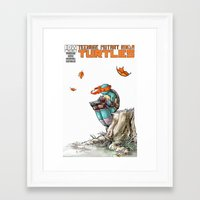 ninja Framed Art Prints featuring NINJA by Don Kuing