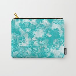 Coral Turquoise  two-tone Carry-All Pouch