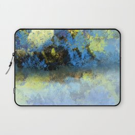 Bright Blue and Golden Pond Laptop Sleeve