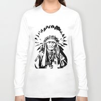 native american Long Sleeve T-shirts featuring Native by Lauryn Danae