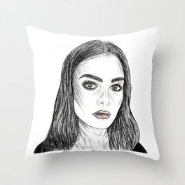 La Belle Femme Throw Pillow