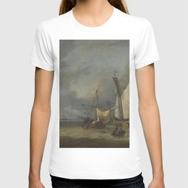 Jan Claesz Rietschoof - A Storm (Ships in the Harbor in a Stiff Breeze) T-shirt