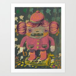lumberjack girl portrait (sister nature's evil twin) Art Print