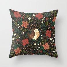 Christmas Robin Throw Pillow