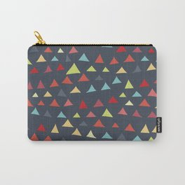mod multi colored triangles Carry-All Pouch