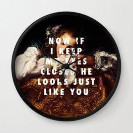 Domenico Fetti, Sleeping Girl (1620-1622) / Halsey, Eyes Closed (2017) Wall Clock