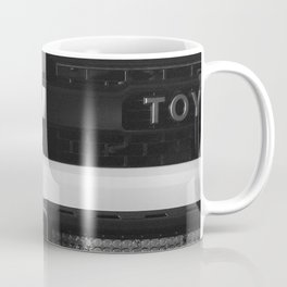 """TOY"" Tundra // Black and White Monster Truck Geared Out Big Wheels Matte Black Grille Coffee Mug"