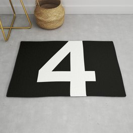 Number 4 (White & Black) Rug