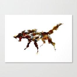 El lobo Canvas Print