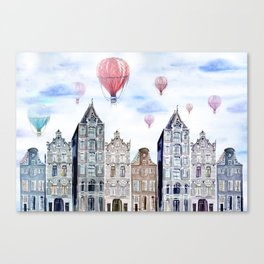 Amsterdam  watercolor Canvas Print