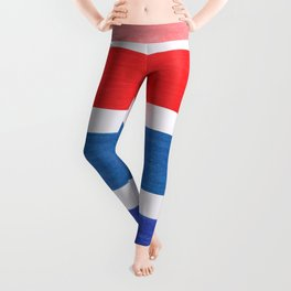 Colorful Red and Blue Geometric Pattern Leggings