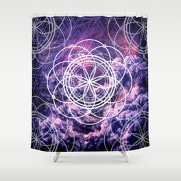 Symmetry in Purple Shower Curtain