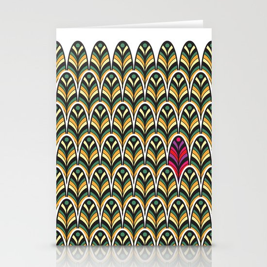 Rubine Feather Stationery Cards