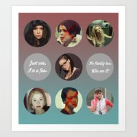 orphan black Art Prints featuring Orphan Black, Family by Your Friend Elle