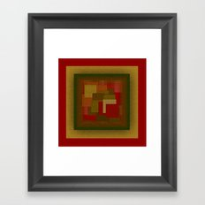 Red Color Geometry Framed Art Print