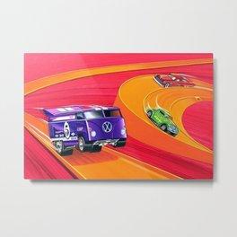 Vintage Hot Wheels Master Case Series 4 Poster No. 2 Metal Print