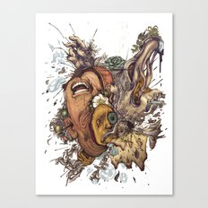 panic color  Canvas Print
