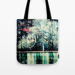 White in the Forest Tote Bag
