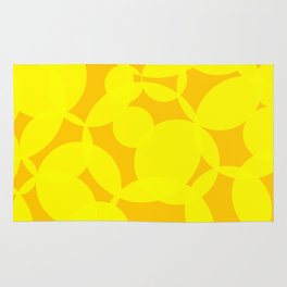 Abstract Circles In Yellow Rug