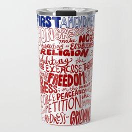 The First Amendment Travel Mug