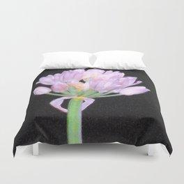 Chives Single Flower Duvet Cover