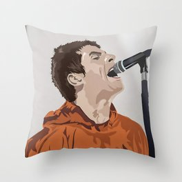 Liam galla-gher poster Throw Pillow