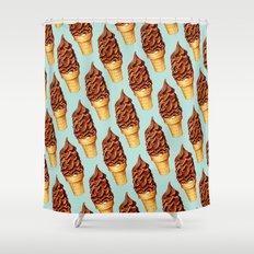 Ice Cream Pattern -Chocolate Shower Curtain