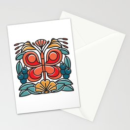 Butterfly tile Stationery Cards