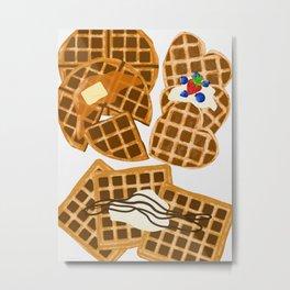 Waffle On Metal Print