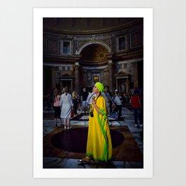 Woman in Yellow. Art Print