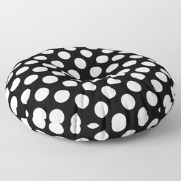 Black and white polka dots pattern Floor Pillow