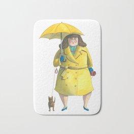 Glória e Mimi chic à chuva - Gloria and Mimi chic under the rain Bath Mat