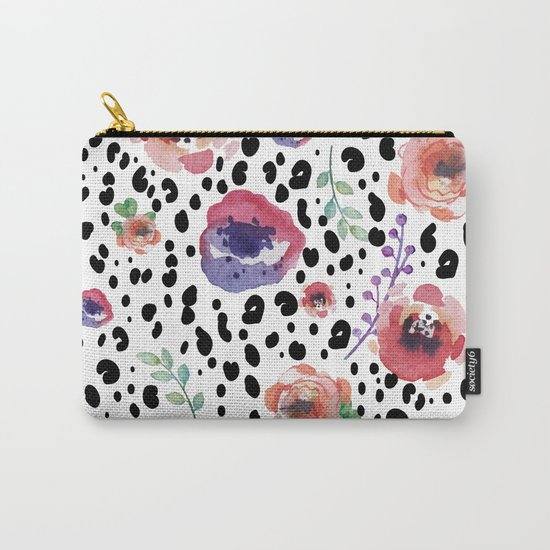Abstract animal flowers Carry-All Pouch
