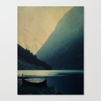 mountains Canvas Prints featuring mountains by Ingrid Beddoes photography