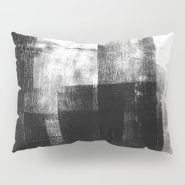 Black White Grey Abstract Monotype Pillow Sham