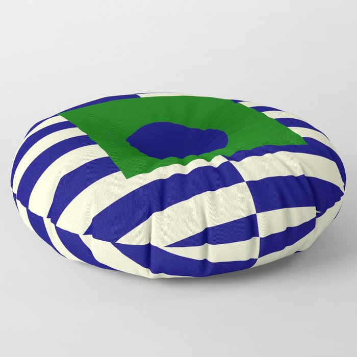GEOMETRY BLUE&GREEN V Floor Pillow