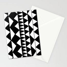 Black Triangles Stationery Cards