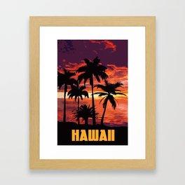 An hawaiian sunset Framed Art Print