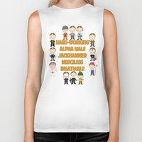 dwight schrute Biker Tanks featuring Dwight Schrute Two Words by Alex Dutton