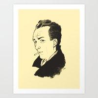 camus Art Prints featuring Camus 1 by reymonstruo