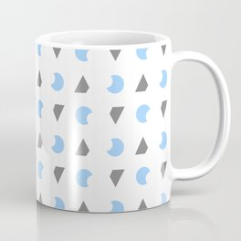 Symmetric patterns 163 blue and grey Coffee Mug