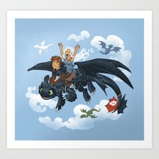 Dragon Riders ver 2 Art Print